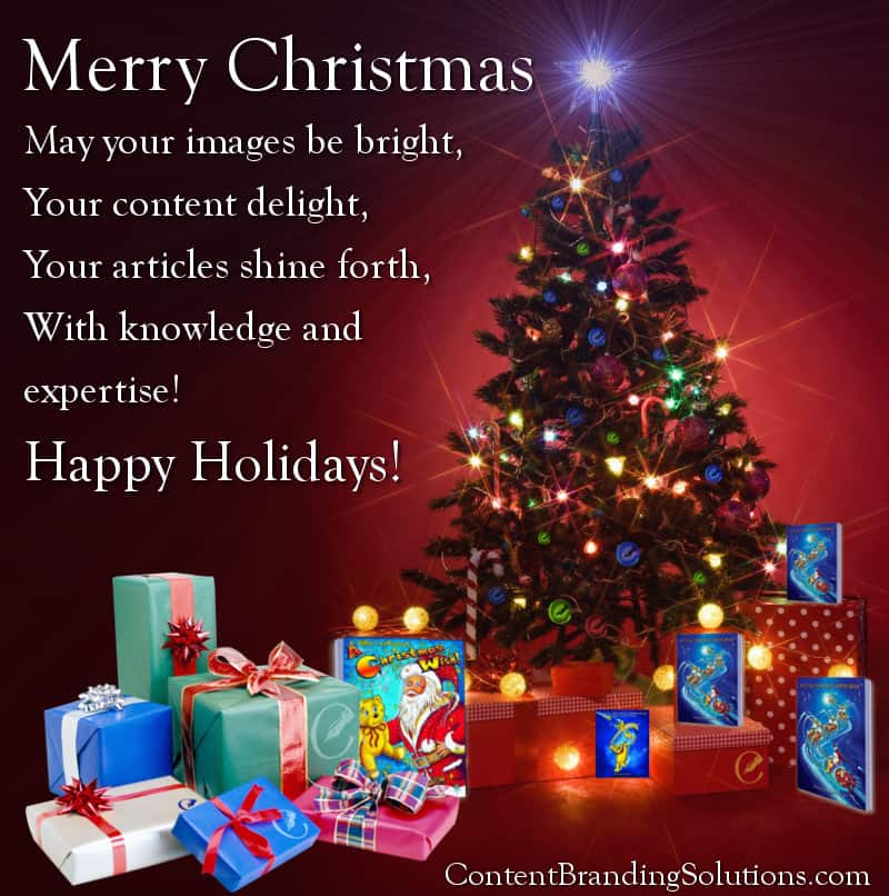 Happy Holidays, from Content Branding Solutions, Images, Content, SEO, Website Design, Digital Marketing for Architects, Engineers, Contractors (AEC) in the Design and Construction Industry