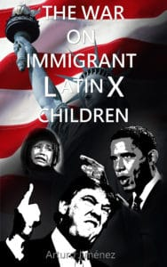The U.S. war on Immigrant Children Draft Patriotic book cover design by Peter Lucking, Content Branding Solutions, Denver Colorado