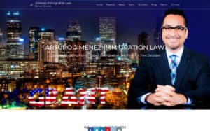 Arturo Jimenez Law offices - Website Design, Content, Images and Graphics by Content Branding Solutions in Denver