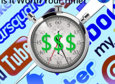 An Image of a clock with Social Media icons in the background - Social Media, is it Worth Your Time? An article by Content Branding Solutions