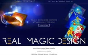 Real Magic Design Website, logo and graphics by Content Branding Solutions