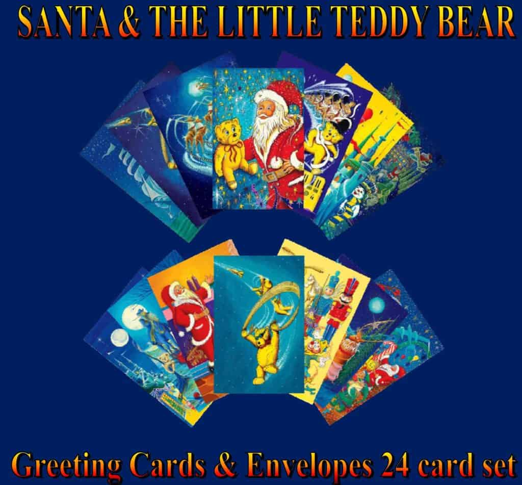 SANTA & THE LITTLE TEDDY BEAR 2011 INDIE Excellence Holiday book winner and 2011 INDIE Excellence Book Cover Design-Children-Finalists. Santa & The Little Teddy Bear, a Christmas holiday book classic. Published by Real Magic Design
