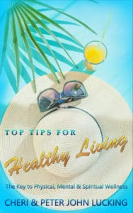 The Book cover for Top Tips for Healthy Living - Coming in the Spring of 2020 in time for the Beach Season plays on symbols and emotions