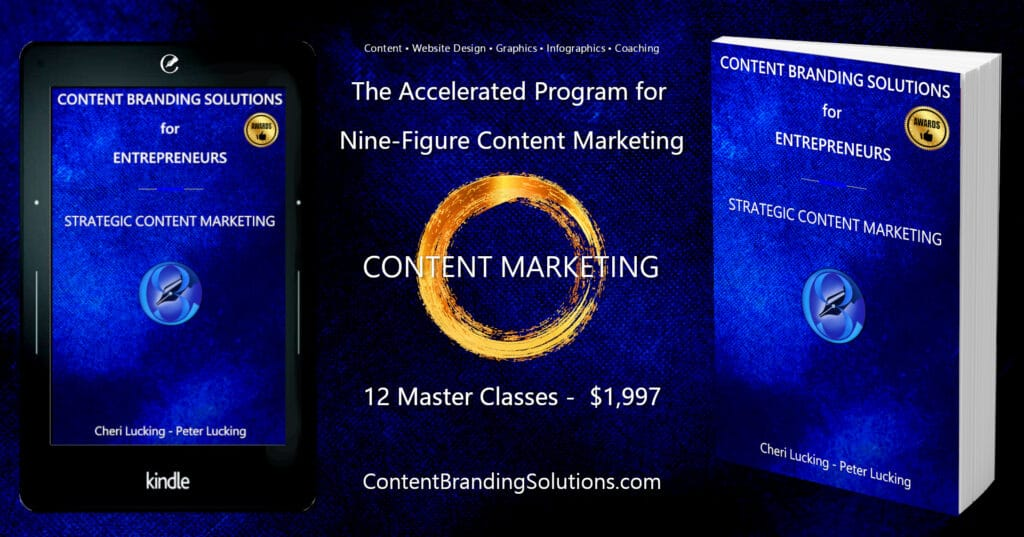 Accelerated Program for Nine-Figure Content Marketing – 12 Master Classes for just $1,997 - A Comprehensive Master Class series To Branding And Content Marketing that will help you Create Your roadmap to success