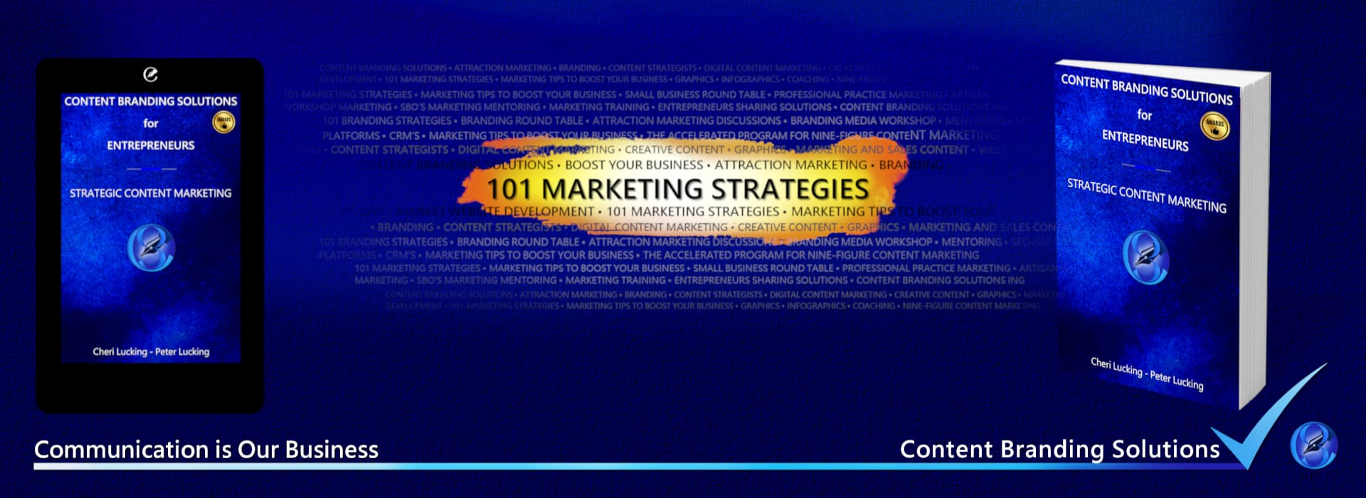 Celebrate #MarketingThursday - Attend our FREE end of month 101 MARKETING STRATEGIES Webinar every last Thursday of the month and plan for success in the weeks ahead. Sign up now Strategies to Boost Your Business from Content Branding Solutions Hosted by Cheri and peter Lucking