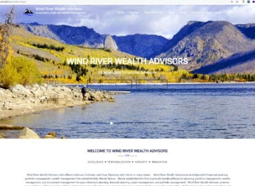 Wind River Wealth AdvisorsWebsite design Content, graphics and SEO by Content Branding Solutions